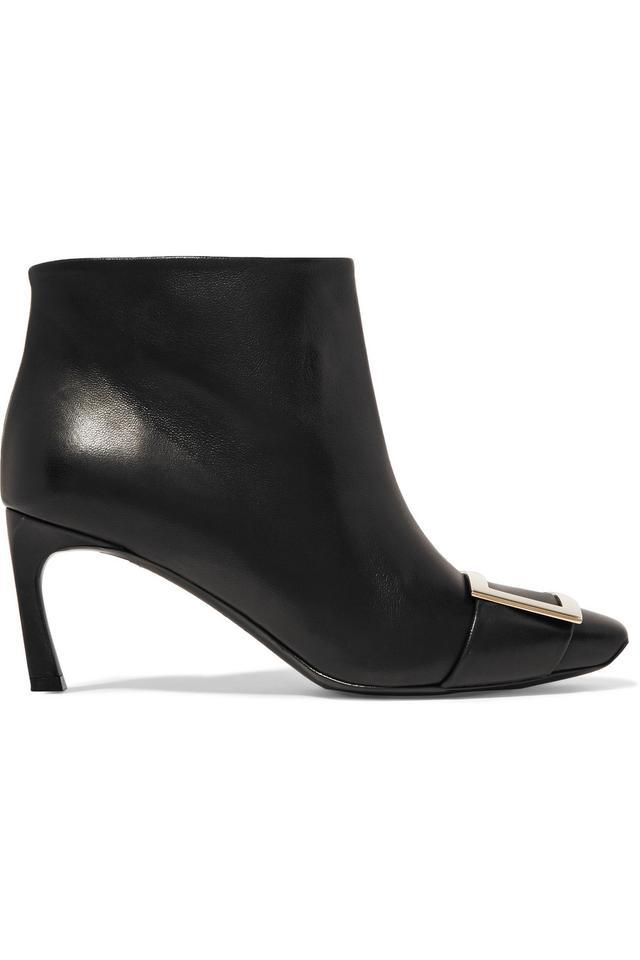 Belle Vivier Trompette Leather Ankle Boots
