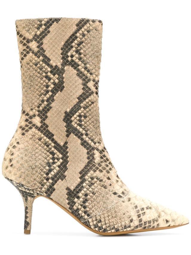 snake pattern boots