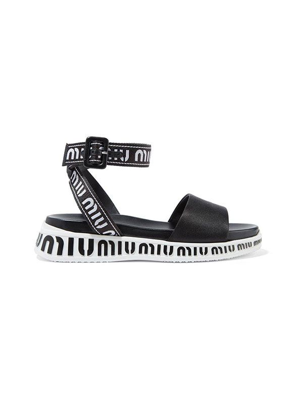 Logo-embroidered Canvas Sandals
