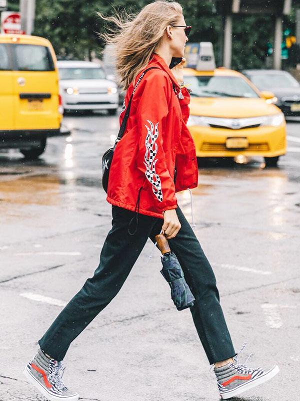 street style blogger Jessica Minkoff wearing Vans
