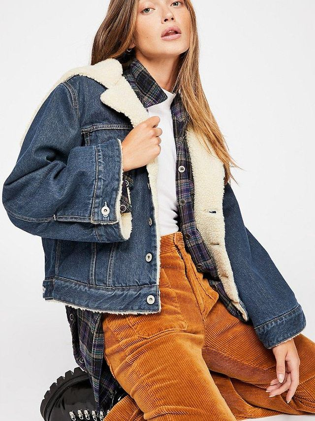 Levi's Made & Crafted Cropped Sherpa Trucker Jacket