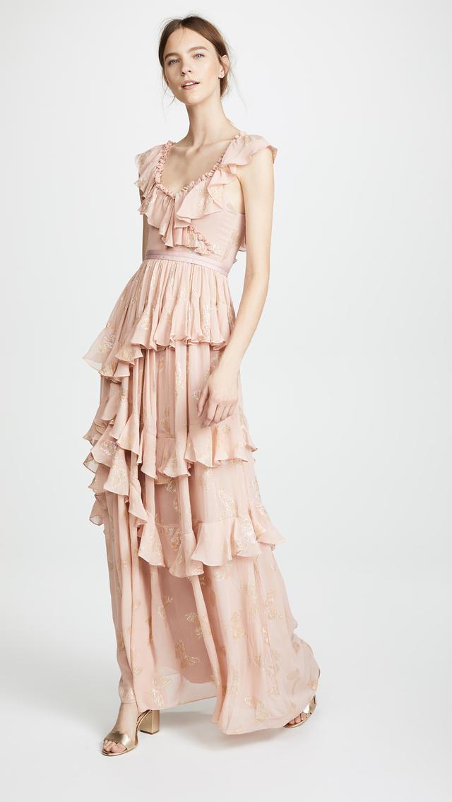 Metallic Butterfly Gown