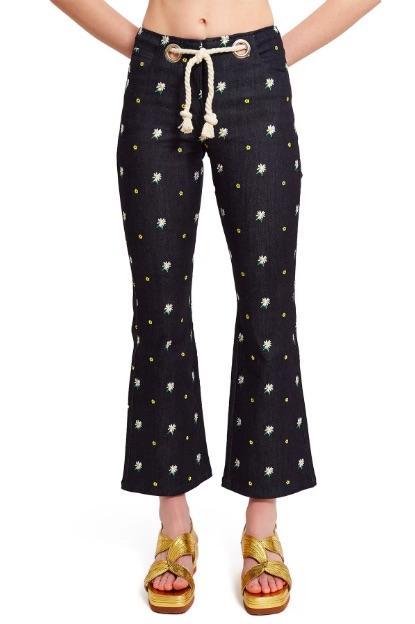 Miaou Embroidered Morgan Pants