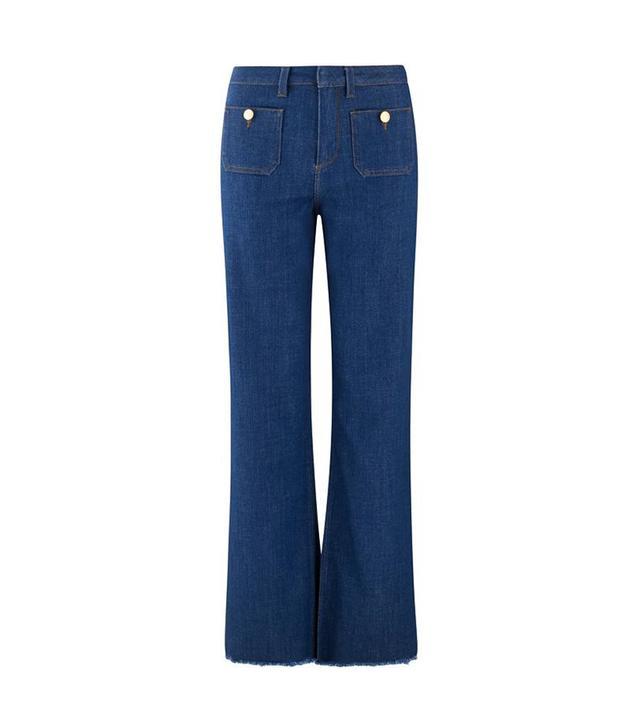 Me + Em Pocket Detail Flared Jeans