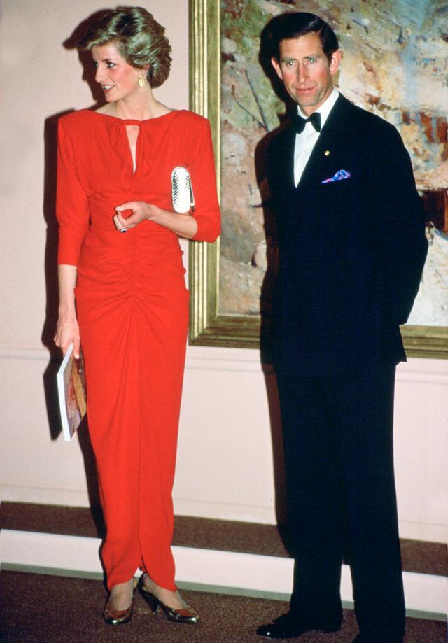 Princess Diana in Melbourne Red Dress