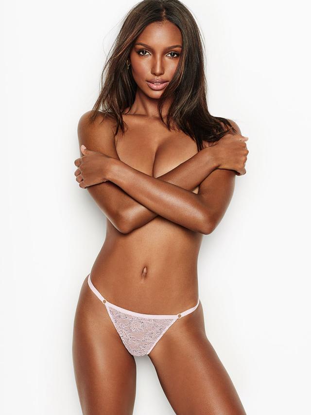 Victoria's Secret Eyelash Lace String Bikini Panty