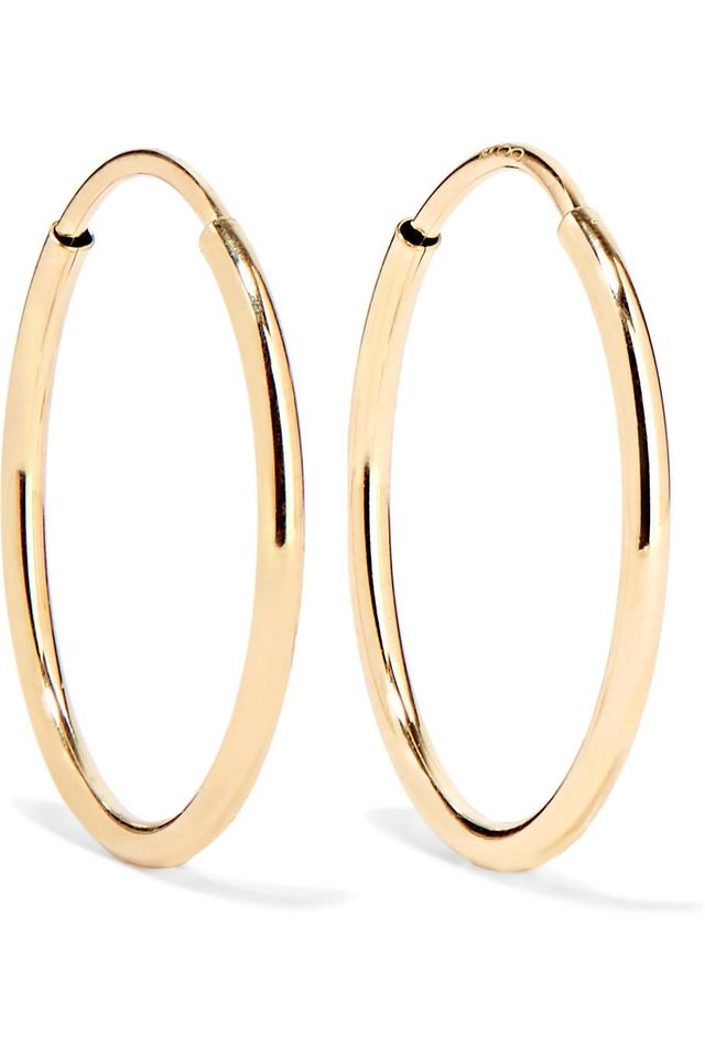 Infinity 10-karat Gold Hoop Earrings