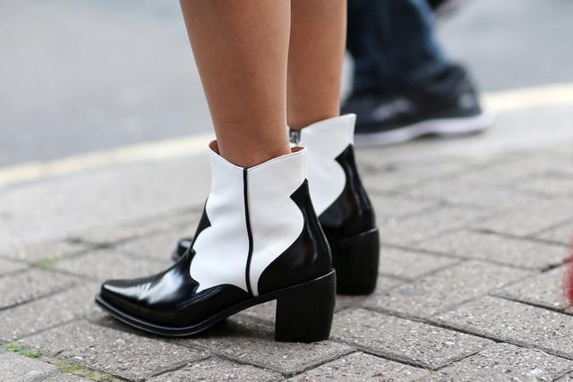 Alexachung White and Black Cowboy Boots