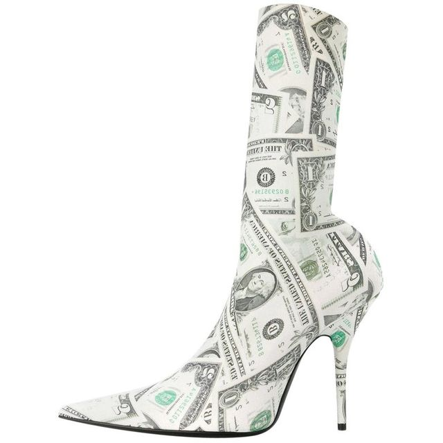 Balenciaga Dinero Money Sock Ankle Boots