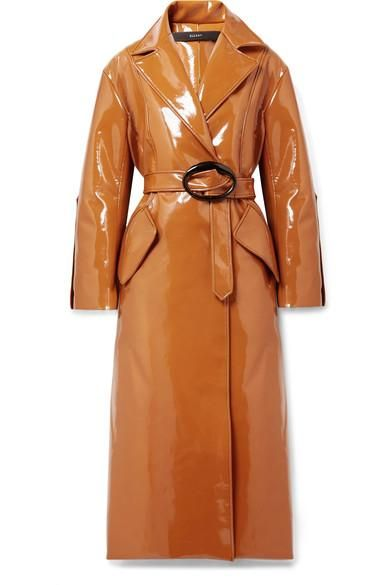 Nine to Five Pod Vinyl Trench Coat