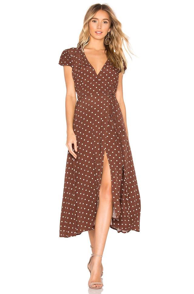 Polka Dot Wrap Dress