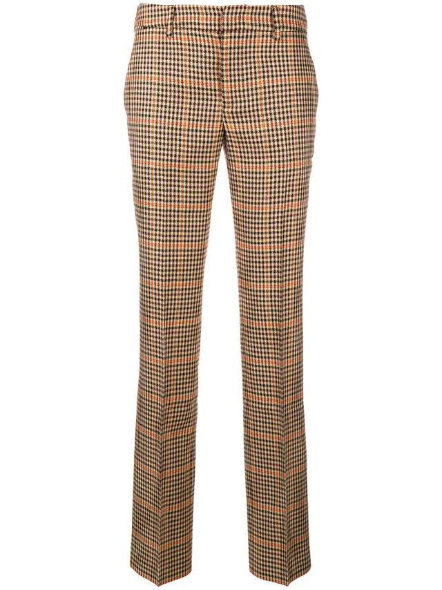 plaid slim tailored trousers