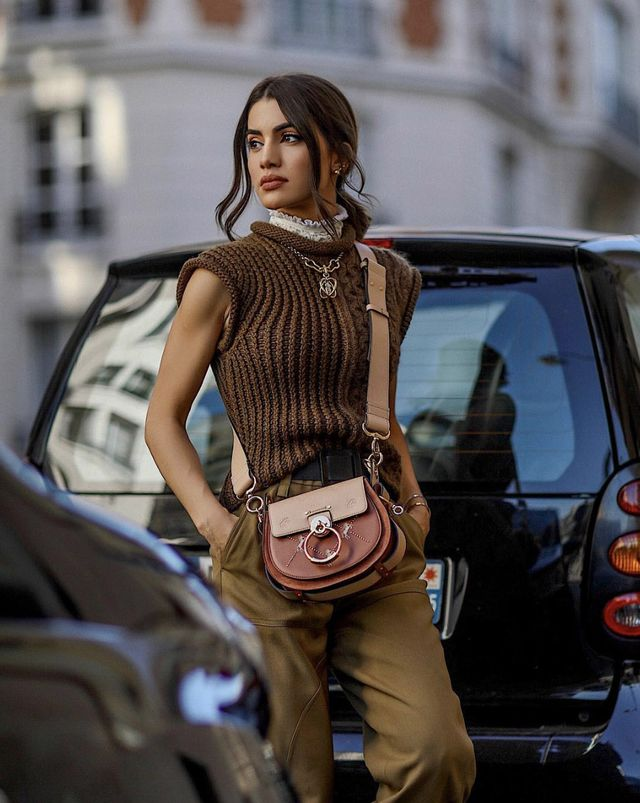How to wear an all-brown outfit