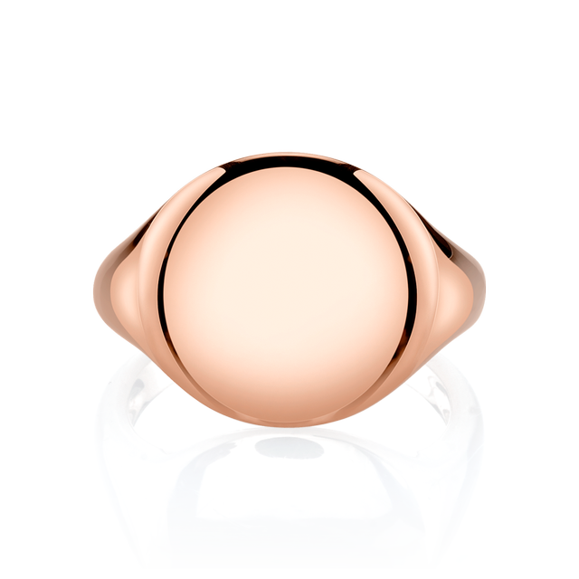 The Last Line Rose Gold Signet Pinky Ring