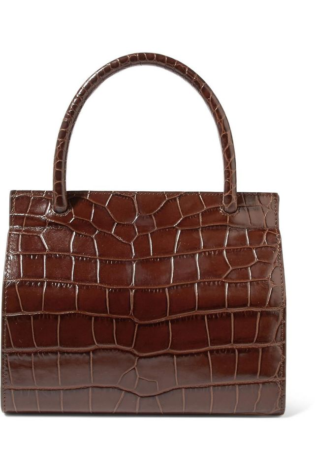 Val Croc-Effect Leather Tote