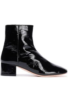 Patent-Leather Ankle Boots