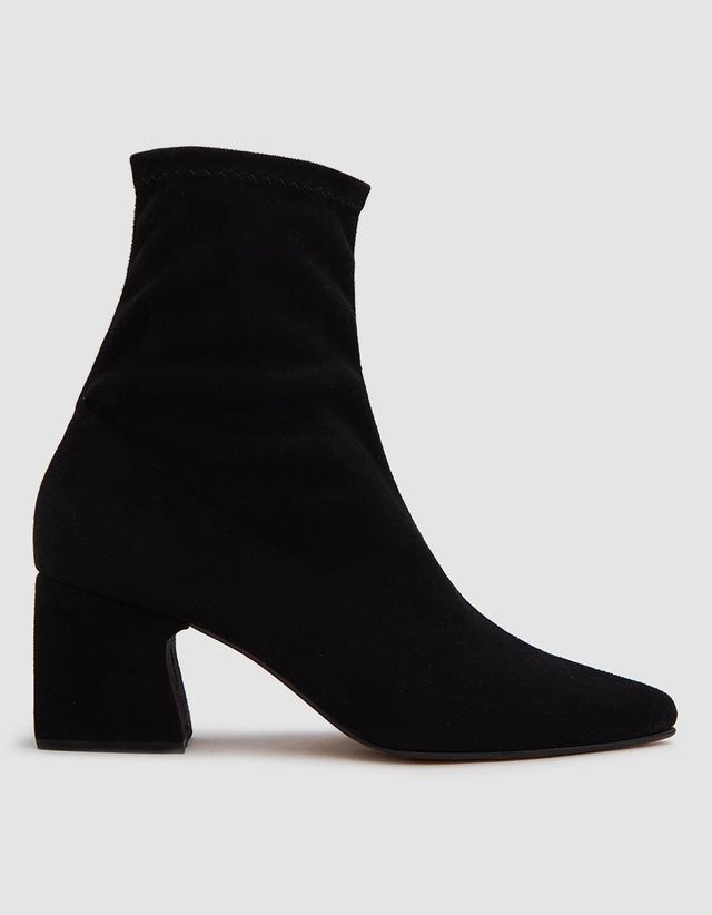 Zaha Stretch Faux Suede Booties
