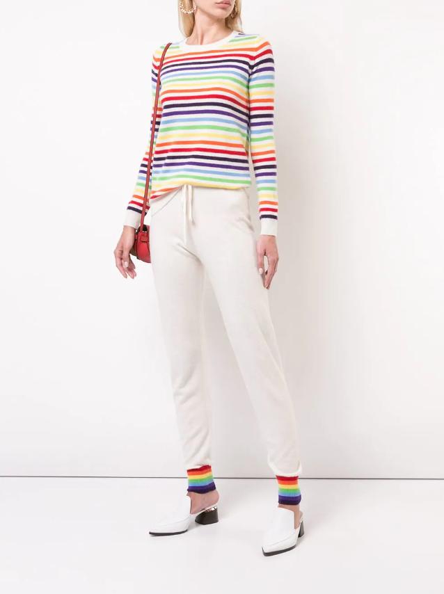 striped rainbow jumper