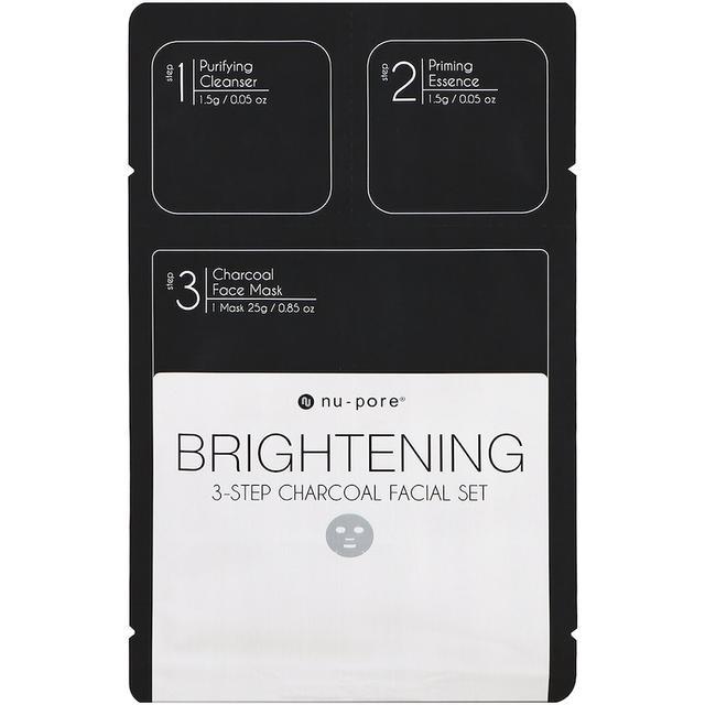 Nu-Pore Brightening 3-Step Charcoal Facial Set