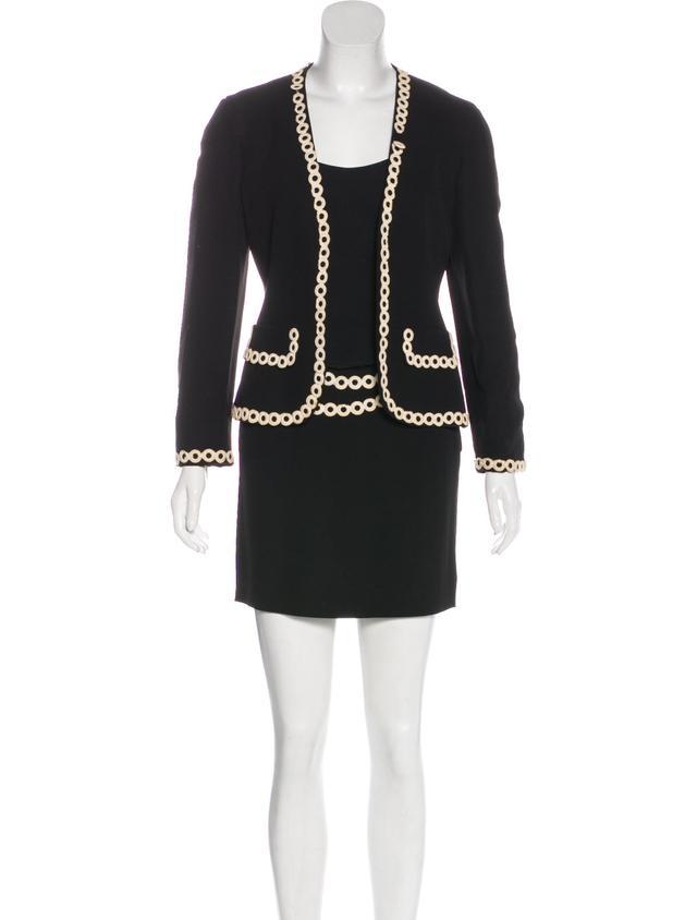 Moschino Three-Piece Mini Skirt Suit