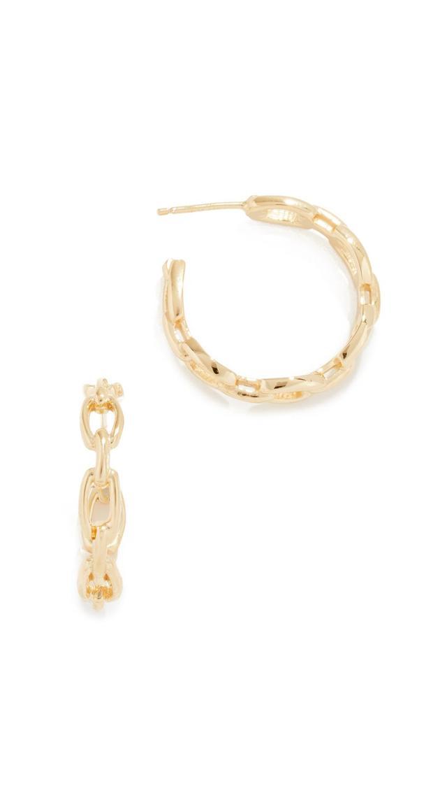 Carmine Hoop Earrings