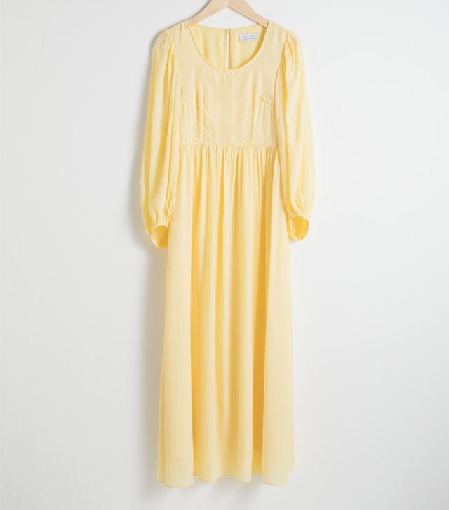 Jackueline Paneled Silk-habotai Midi Dress