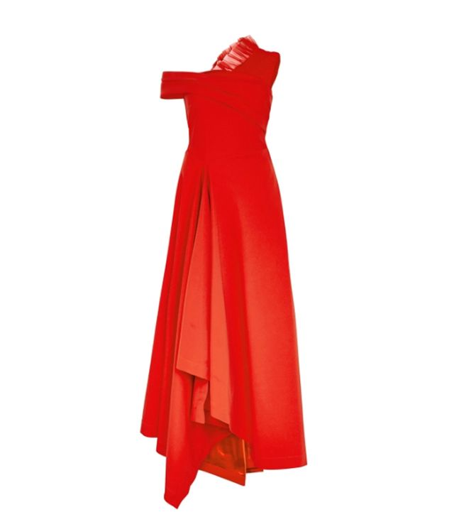 Ruched Stretch-Tulle Midi Dress