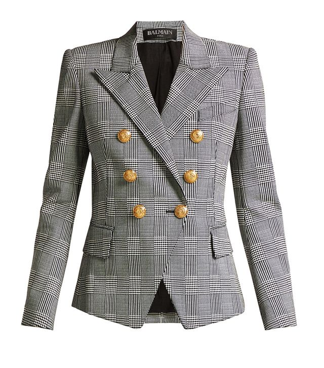 Balmain Prince of Wales Double-Breasted Blazer