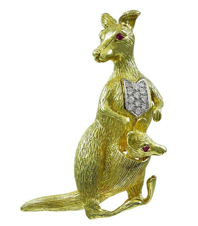 1stDibs Kangaroo Brooch