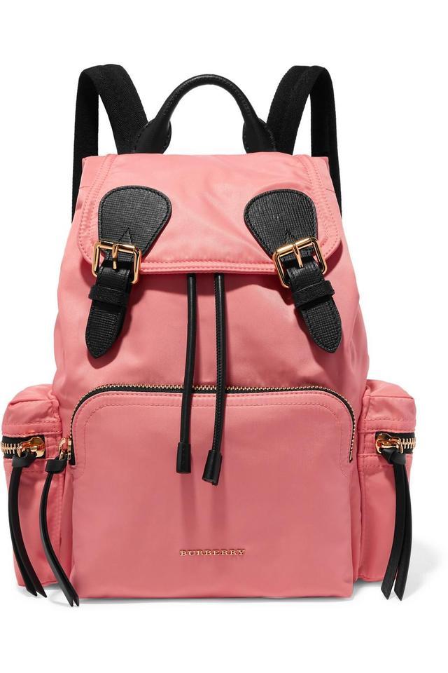 Leather-trimmed Gabardine Backpack