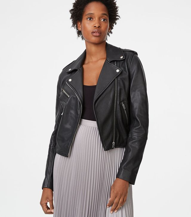 Club Monaco Garcella Leather Jacket
