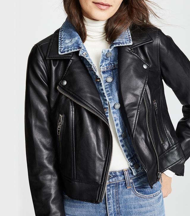 Double Layered Moto & Denim Jacket