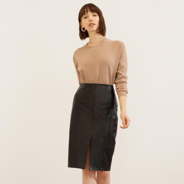 Arielle Vegan Leather Skirt