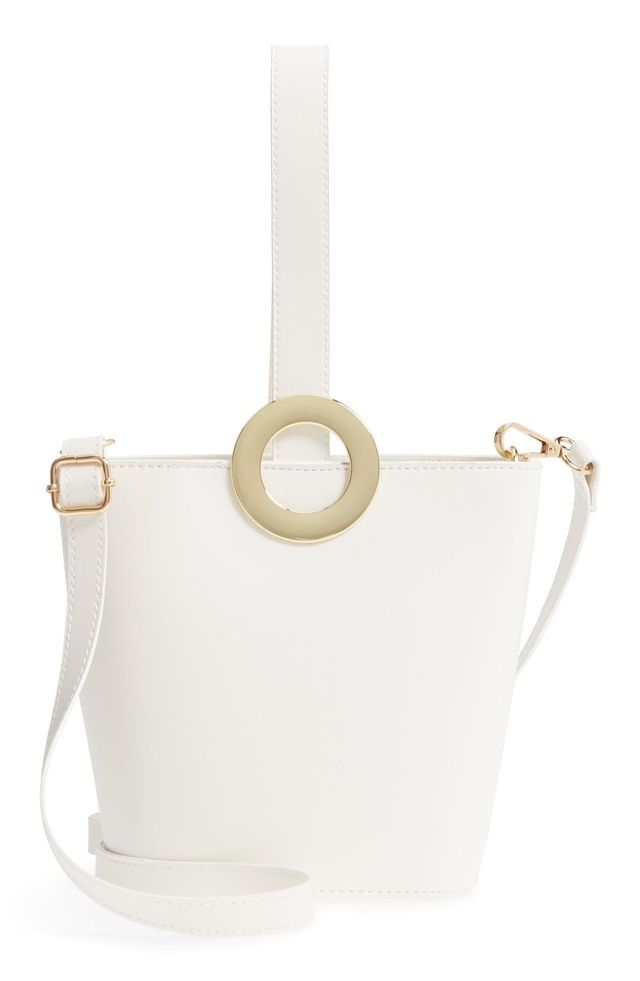 Yoki Bags Structured Faux Leather Bucket Bag -