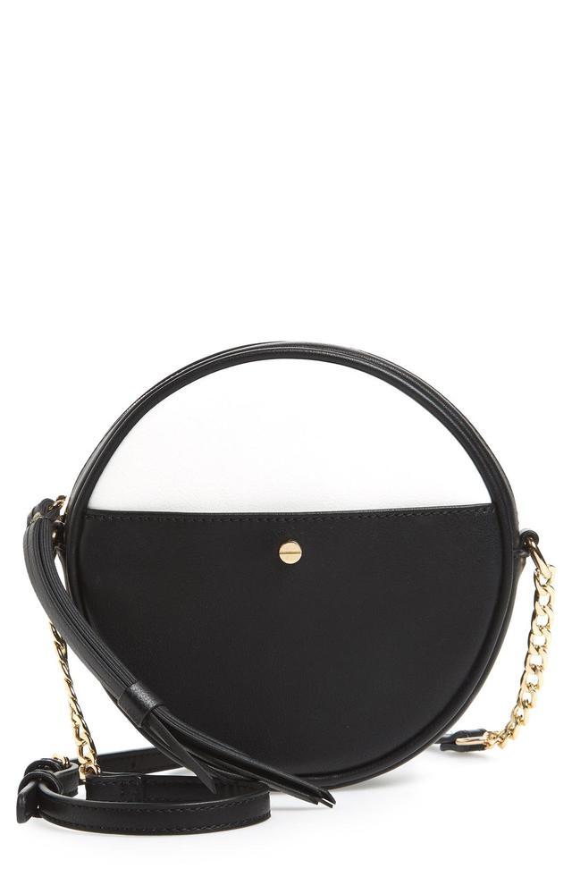 Mali + Lili Payton Vegan Leather Canteen Crossbody Bag -