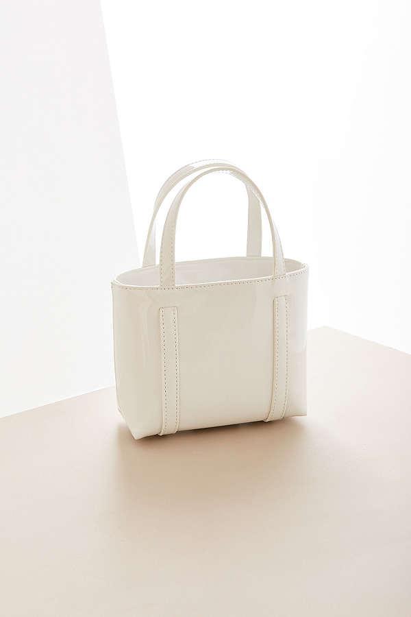 Patent Vegan Leather Mini Tote Bag