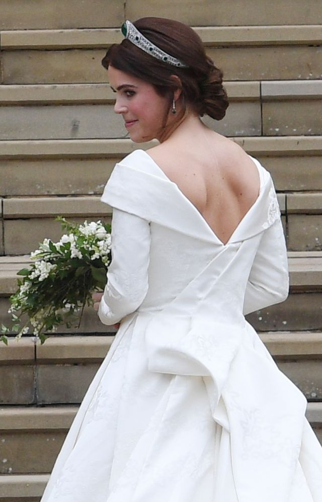 Princess Eugenie wedding dress: Peter Pilotto gown showing Scoliosis scars