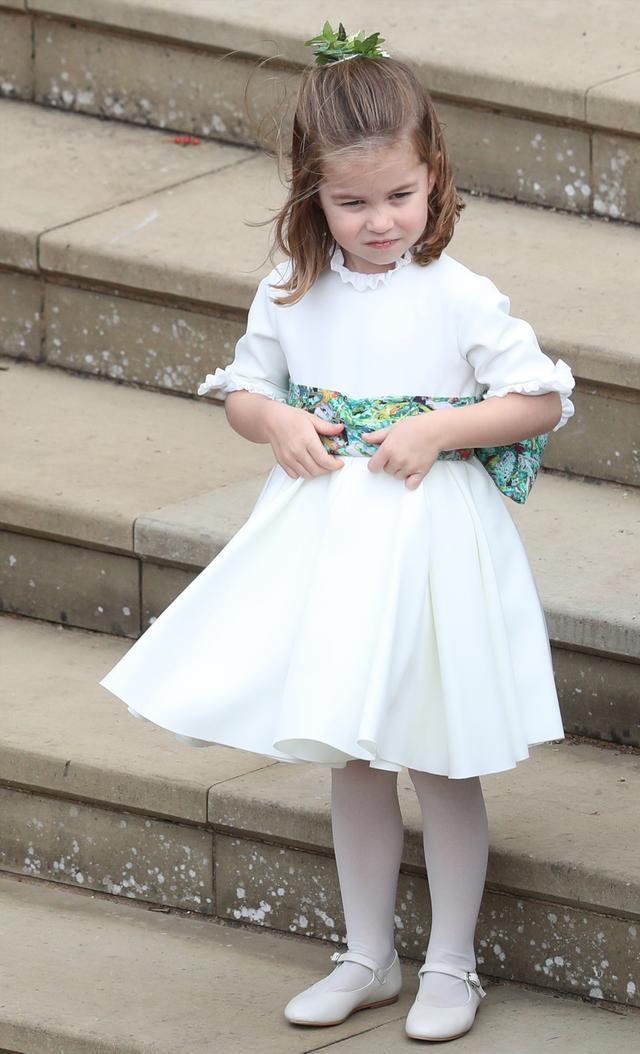 Princess Eugenie wedding dress: Princess Charlotte bridesmaid dress