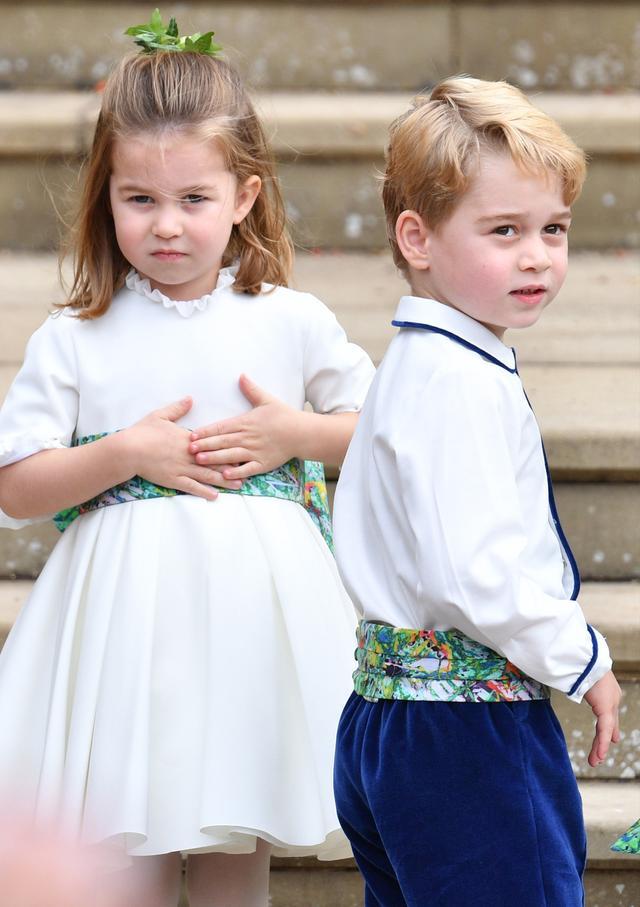 Princess Eugenie wedding dress: Princess Charlotte and Prince George