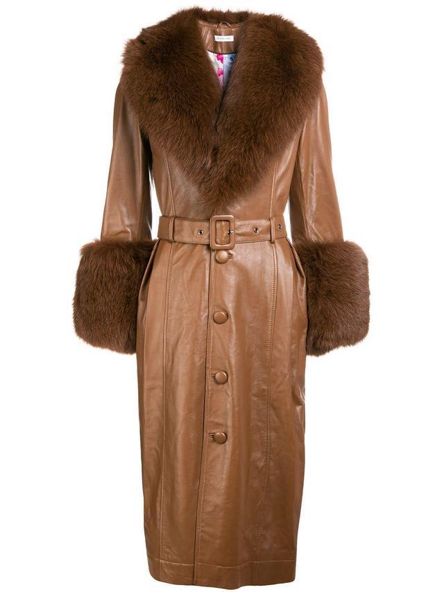 Foxy leather coat