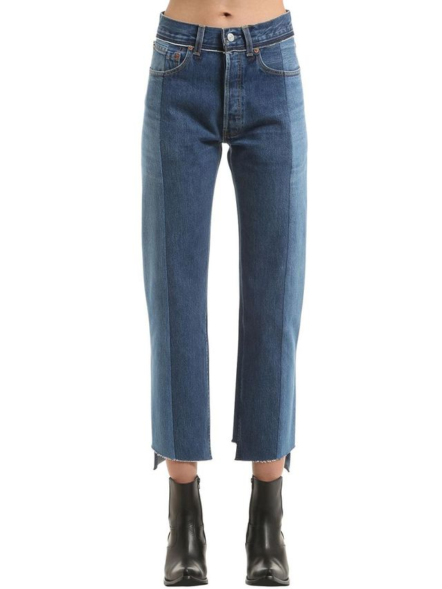 REWORKED PUSH-UP COTTON DENIM JEANS