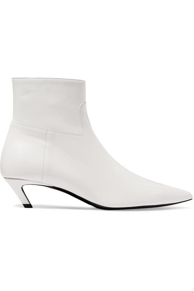 Talon Slash Leather Ankle Boots