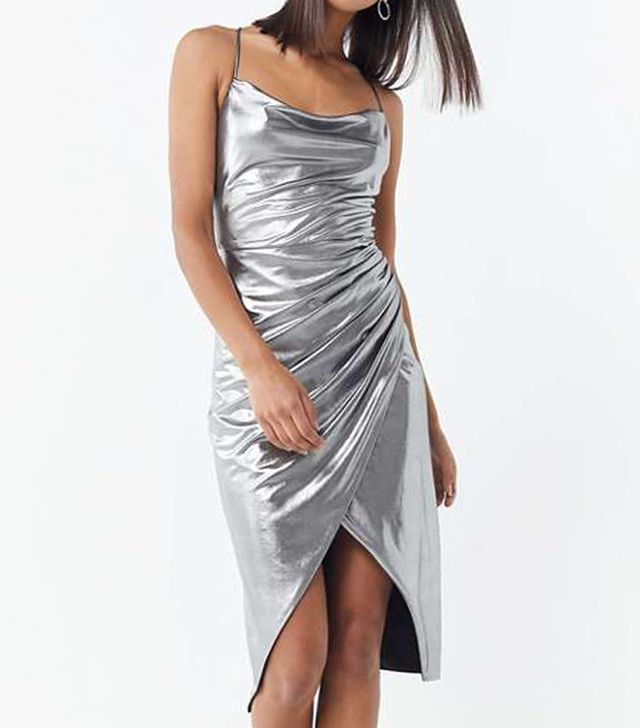 Runway Slinky Cowl Neck Dress Holiday Party Ideas
