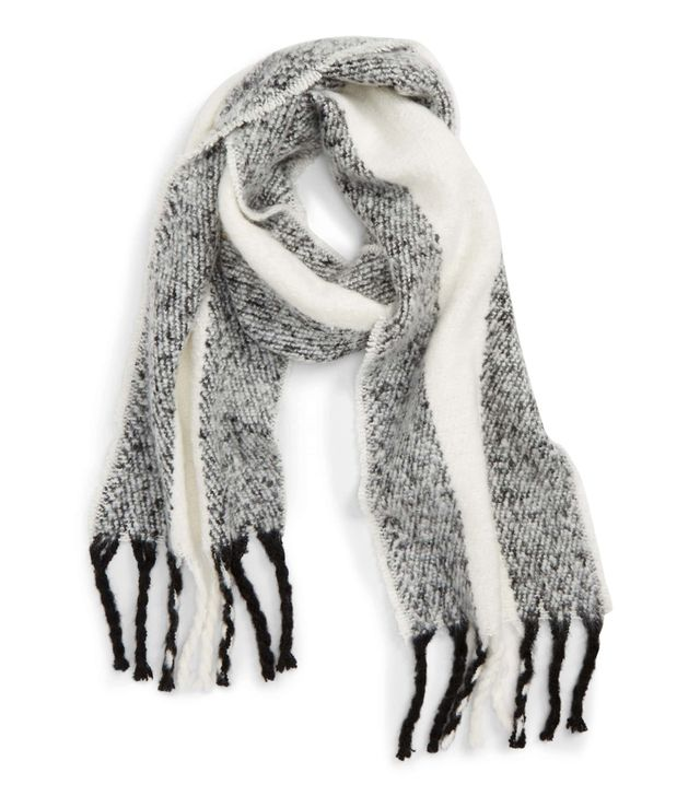 Topshop Heavy Humbug Stripe Scarf Holiday Party Ideas