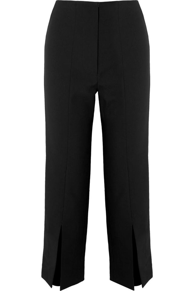 The Inez Cropped Crepe Tapered Pants