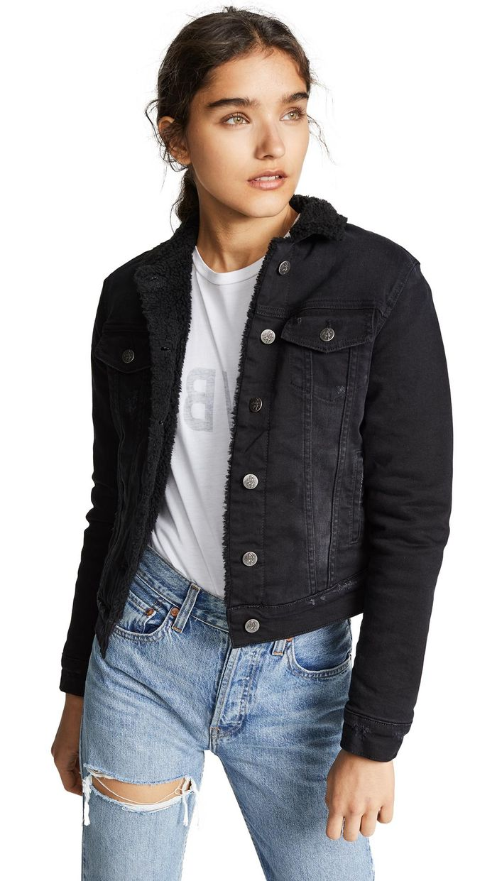 d2be9b29ad 15 Black Denim Jacket Outfits for Fall
