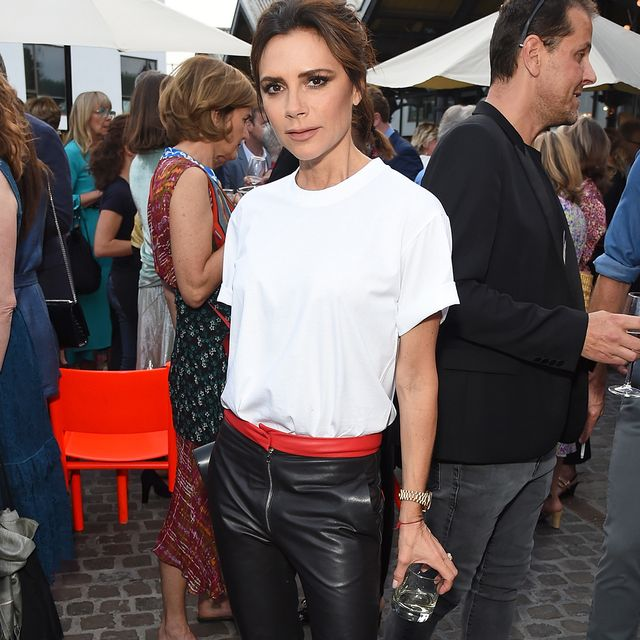 5 Times Victoria Beckham Made a White T-Shirt Look Like a Million Bucks