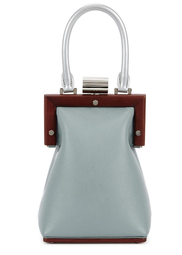 Perrin Paris La Minaudiere Blue Leather Bag