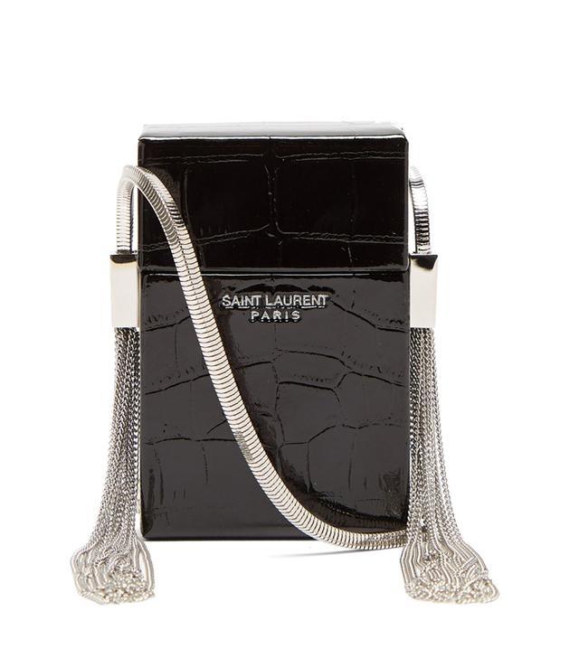 Saint Laurent Smoking Minaudiere Leahter Crossbody Bag
