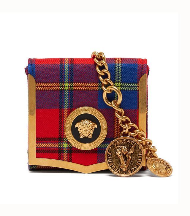 Versace Medusa Coin Tartan Belt Bag